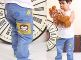 2014新款春软牛仔弹力童裤男幼小童儿童童装牛仔裤宝宝单裤女批发