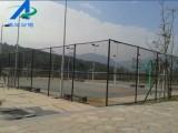 大学城墨绿色球场防护网/白色球场编织网/网球场外围护网价格