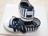 外贸童鞋 韩国paw小熊新款女童浅口彩条帆布鞋【原单】