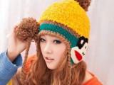 韩国 冬季帽子 女 秋冬天女士毛线帽韩版可爱卡通保暖帽嘻哈女士