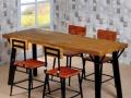 销售美式实木餐厅休闲桌椅 酒吧咖啡厅高脚桌椅卡座沙发