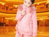 儿童装女童2013新款秋冬装冬季女孩宝宝卫衣休闲加厚棉衣三件套装