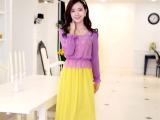 新品上市限时疯抢XL纯色淡黄基本款连衣裙成人密红淡紫正品连衣裙