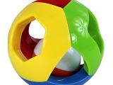 五彩益智铃铛手抓球 声音色彩抓握 摇铃宝宝婴儿玩具0-1岁叮当球