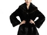 厂家直销  2014新款整貂皮草女貂皮大衣中长款外套披肩帽