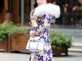 冬季白鹅绒女士羽绒服女款版大码迷彩羽绒服女中长款加厚外套