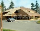 农家乐木屋建造商家 木屋定做款式 大型生态园凉亭施工
