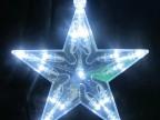 厂家直销户外圣诞挂件透明直径150MM白光LED五角星造型灯