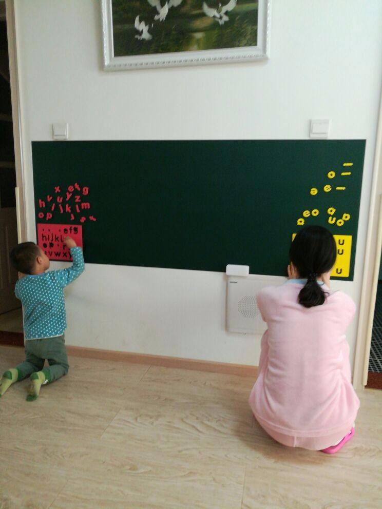 Magwall儿童粉笔画板办公留言板无钉免胶轻松上墙磁性绿板