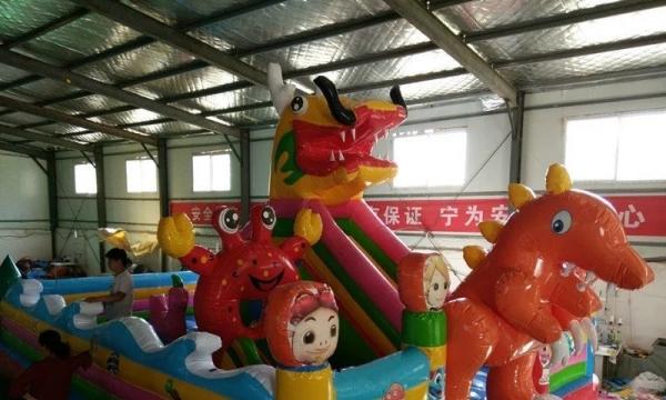 大型充气滑梯生产厂家 儿童充气城堡价格优惠