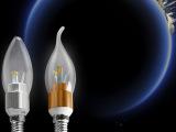 富能超亮LED灯泡 拉尾尖泡E14E27节能灯小螺口3w4w5w
