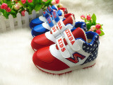 冬季新款男童女童运动鞋 大棉保暖户外跑鞋旅游鞋 韩版拼色波鞋