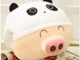 厂家批发较新款动物麦兜毛绒暖手抱枕 卡通暖手捂暖手宝暖手靠垫