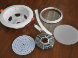 专业供应 优质草帽一体化筒灯外壳 新款明装筒灯外壳