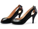 2014新款 正品头层牛皮马丁低帮鱼嘴鞋细单鞋凉鞋女高跟鞋批发