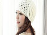 爆款2013新款韩版花朵针织帽 女士 范冰冰同款秋冬毛线帽保暖帽