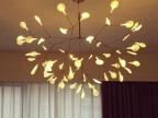 荷兰简约现代创意白色叶子萤火虫树枝独活吊灯