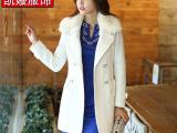 女装外套 韩版品牌风衣外套 女士毛呢大衣 厂家直销批发秋冬女式