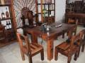 厂家批发茶艺桌茶道桌老船木茶桌椅组合实木功夫茶桌茶几仿古茶台