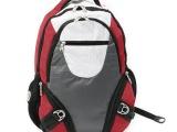厂家订15寸多功能笔记本电脑背包 时尚撞色双肩式电脑背包尼龙包