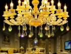 海南建材批发市场海口灯具城客厅吊灯价格 水晶吊灯安装