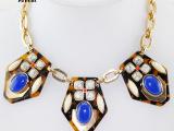 海晋达 JCR欧美大牌时尚水晶项饰豹纹夸张复古装饰项链 青岛饰品