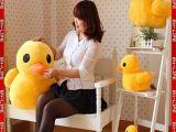 正品香港大黄鸭玩具超仿真大黄鸭毛绒娃娃带吸盘大黄鸭公仔