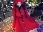 韩国2014冬季新款女装韩版棉衣加厚中长款大码显瘦棉服外套