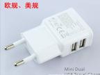 专业供应 迷你美规双USB三星N7100充电器系列 白色 2.1A欧美规