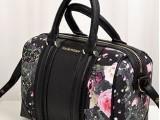 2014 真皮潮流女包牛皮枕头包欧美时尚手提包撞色印花波士顿包