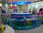 全大型长圆形倒角环流池钢化防爆玻璃透明婴儿游泳池