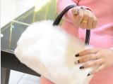 新款韩版特卖秋冬季毛毛潮女包包可爱仿兔毛皮草单肩斜挎小包