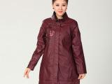 正品原创 2014新款中老年人女装春款长袖风衣外套 绣花民族风外