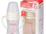 婴儿PP奶瓶 爱得利A83带柄宽口径PP自动大奶瓶 含吸管240