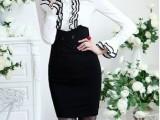 百搭 高贵气质修身紧身 超显瘦高腰半身裙高腰双排扣OL短裙A字裙