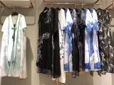 杭州一线品牌女装青像真丝连衣裙库存尾货特价处理