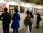 上海个人画展展厅布置,挂画展板制作,屏风展架搭建