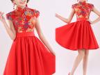 新娘旗袍唐装 时尚改良旗袍 红色旗袍 旗袍批发 旗袍厂家