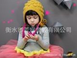 韩国精品儿童毛线围巾+帽子套装/儿童手工围巾 +帽子