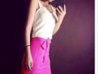 2014夏装新款白背心+百搭彩色包裙 套装 两件套 女