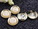 佳洋 厂家直销塑料电镀组合两眼珠光钮扣 日版女装风衣 大衣纽扣