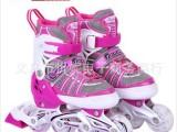 伴威BW-902-3轮滑鞋旱冰鞋可调码儿童轮滑鞋