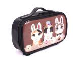 韩版可爱猫猫PVC镜面革防水洗漱收纳化妆包可放包里现货批发