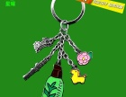 星耀厂家定做卡通人物促销钥匙扣烤漆钥匙链挂件创意金属钥匙配饰
