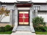 廠家定做實木寺廟進戶門會所庭院大門茶樓老式門