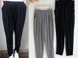 新款莫代尔舒适显瘦九分小脚哈伦裤女宽松家居休闲运动裤一件代发