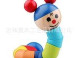 木制百变早教玩具 益智玩具儿童玩具木制玩具 百变扭扭人 彩虹人