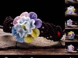 景德镇陶瓷首饰饰品捏花手链批发 手捏手链