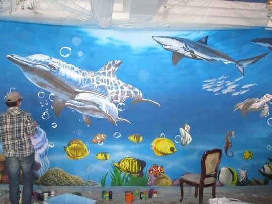 妙艺彩绘 绘制各类墙体彩绘