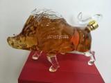 野猪造型玻璃酒瓶小猪酒瓶创意玻璃猪造型工艺酒瓶豪猪酒瓶